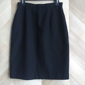Dresses & Skirts - Black 100% Worsted Wool Pencil Skirt